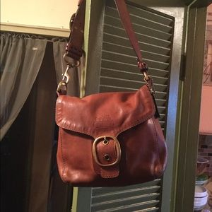 Coach Bleecker flap leather bag